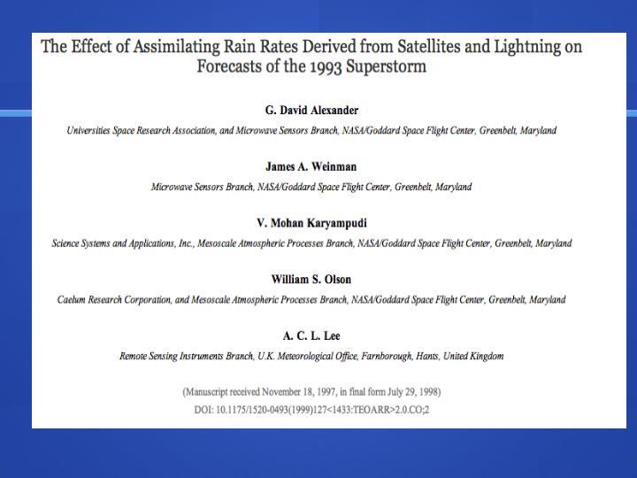 Assimilating lightning data into numerical forecast models use of the ensemble kalman filter
