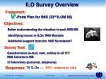 ilo survey overview