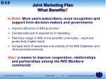 joint marketing plan what benefits
