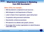 what kind of assistance in marketing from inis secretariat