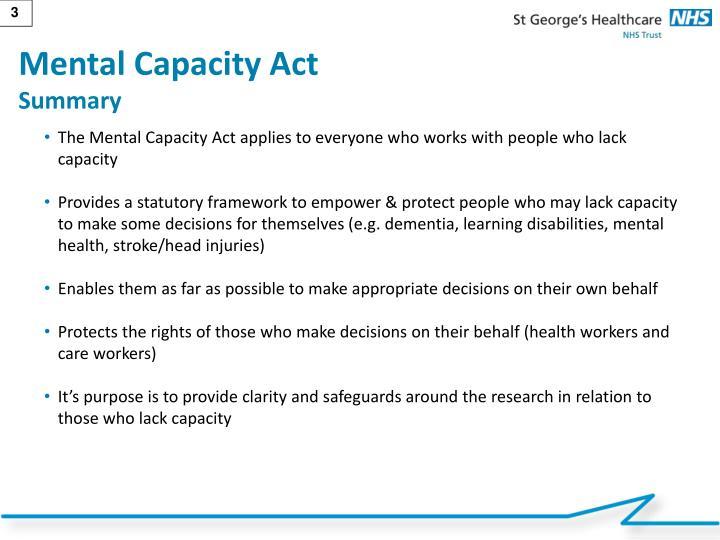 Mental Capacity Act