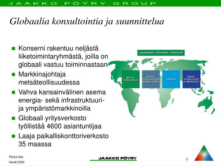 Globaalia konsultointia ja suunnittelua