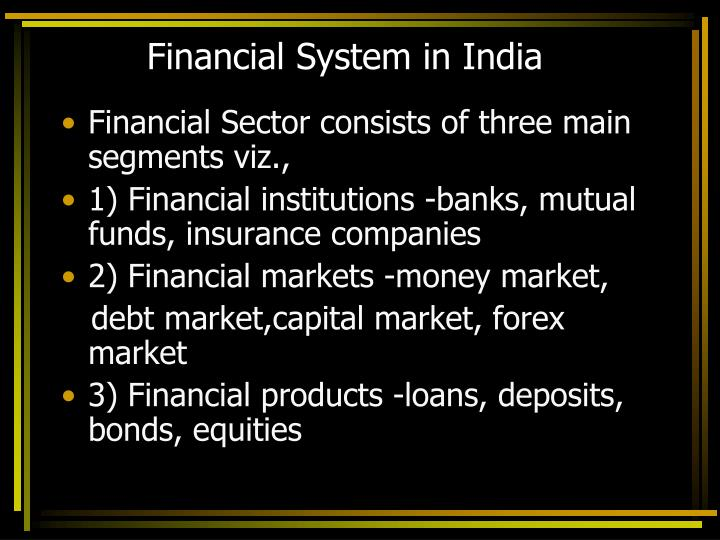 financial system in india n.