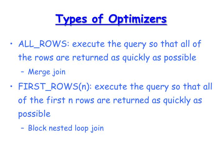 Types of Optimizers