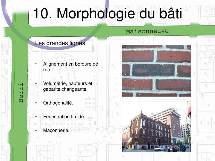 10. Morphologie du bâti