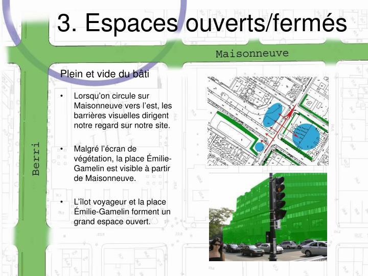 3. Espaces ouverts/fermés