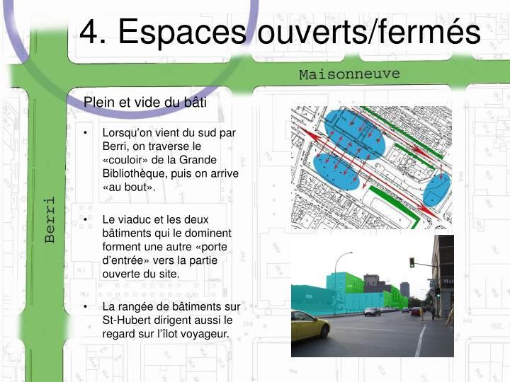 4. Espaces ouverts/fermés