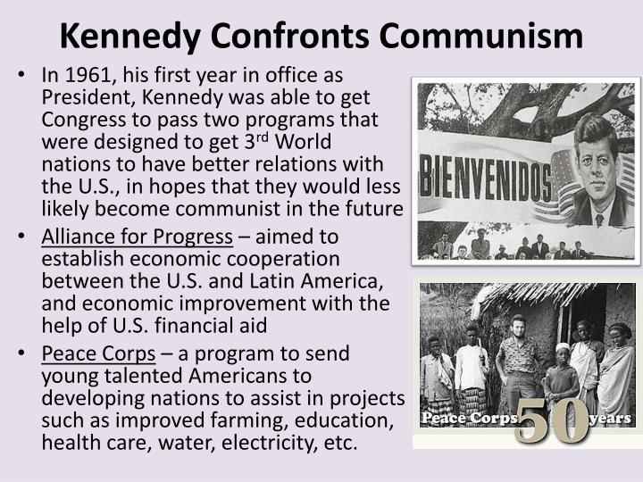 Kennedy confronts communism