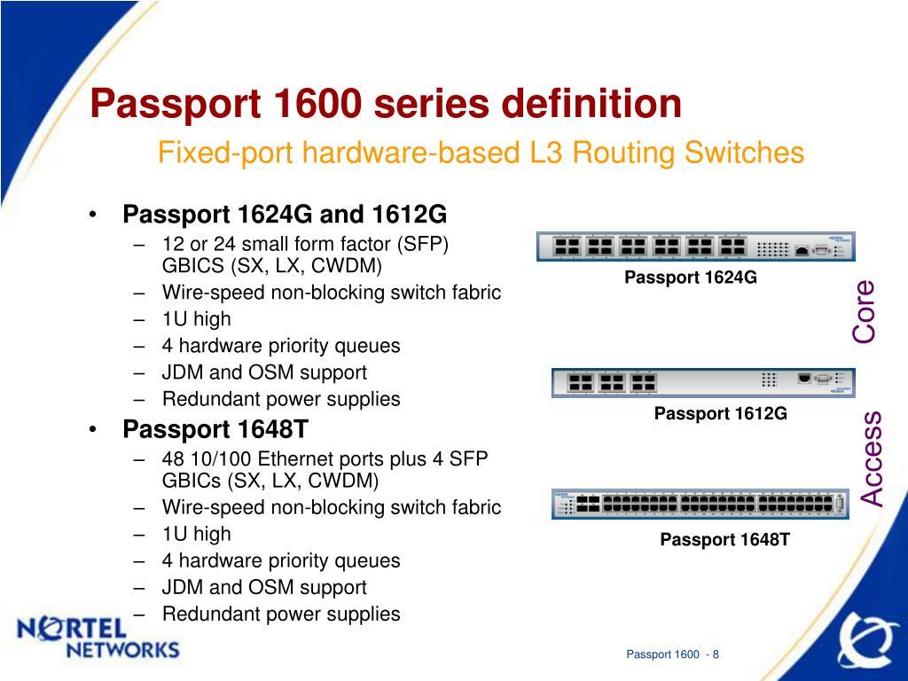 PPT - Nortel Networks Passport 1600 Intelligent Ethernet