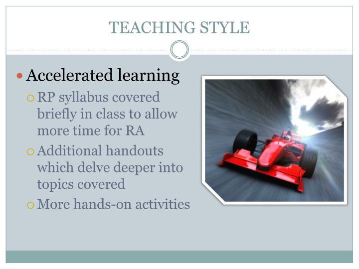 TEACHING STYLE