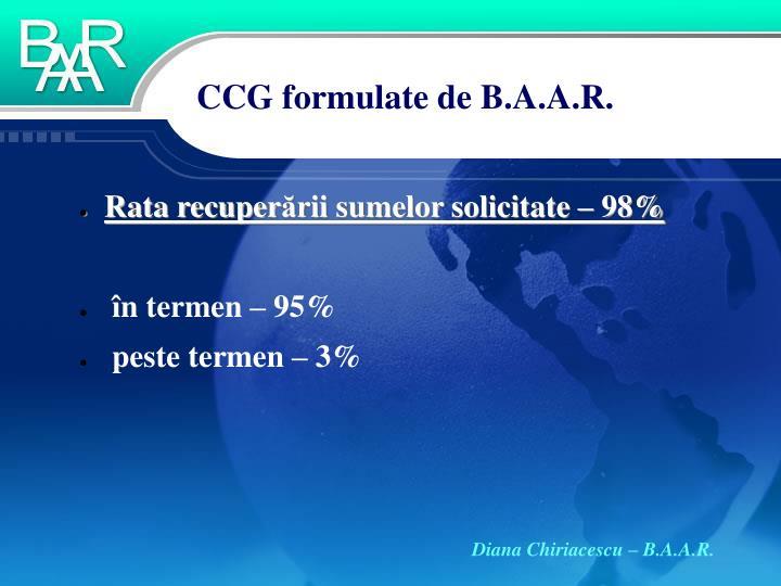 CCG formulate de B.A.A.R.