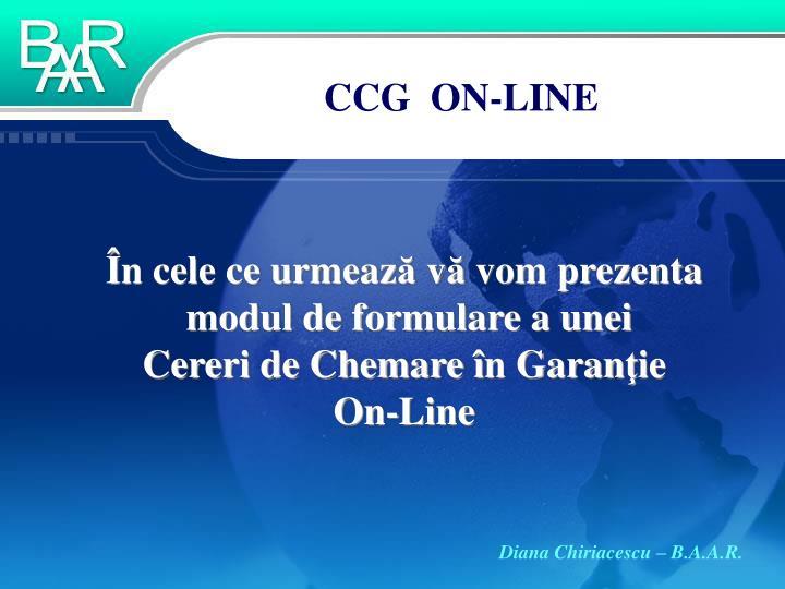 CCG  ON-LINE