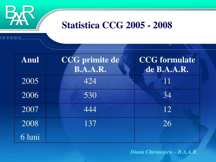 Statistica CCG 2005 - 2008