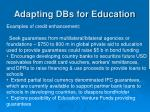 adapting dbs for education1