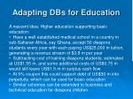 adapting dbs for education3