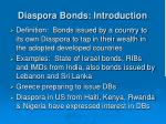 diaspora bonds introduction