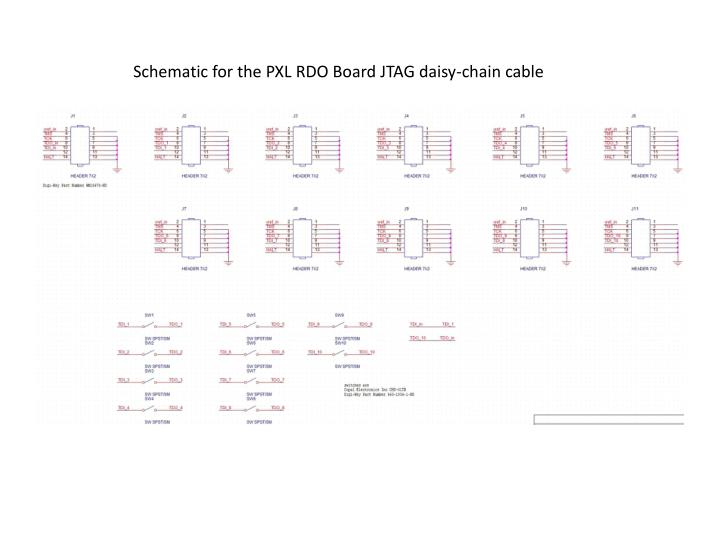 Schematic for the PXL RDO Board JTAG daisy-chain cable