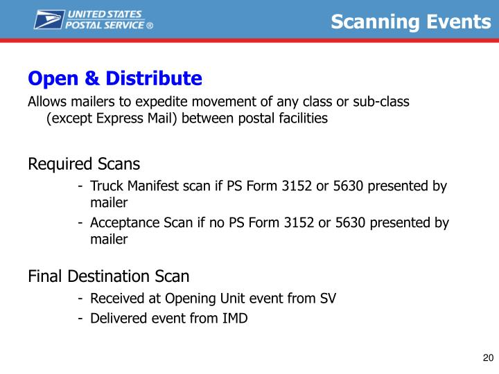 Scanning Events