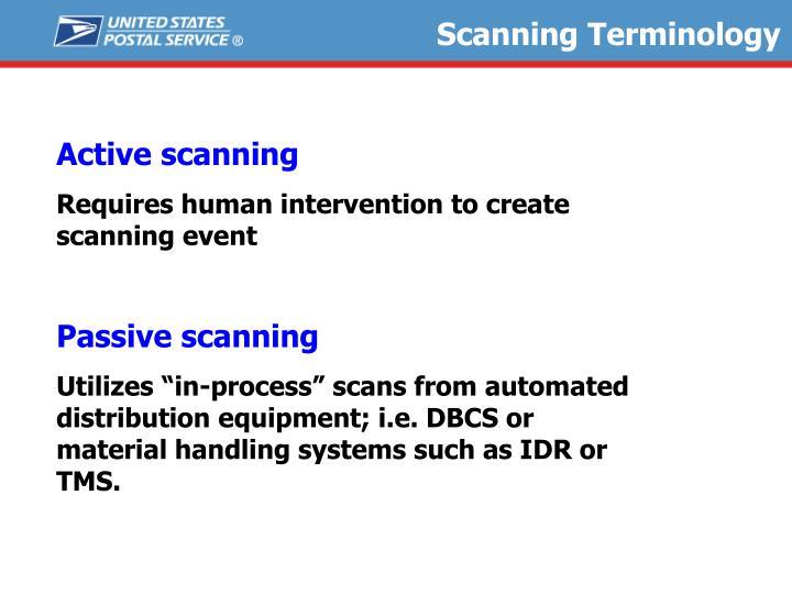 Scanning Terminology