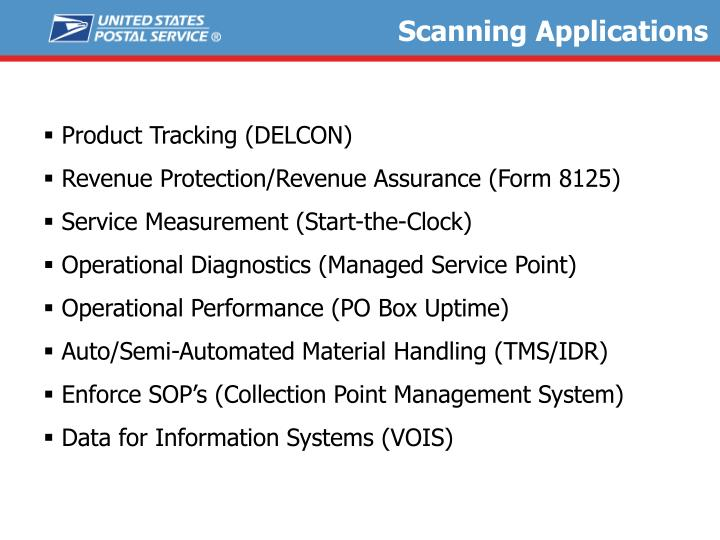 Scanning Applications