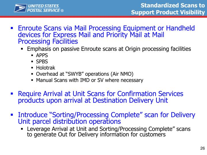 Standardized Scans to