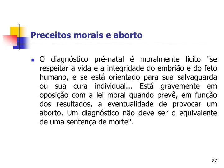 Preceitos morais e aborto