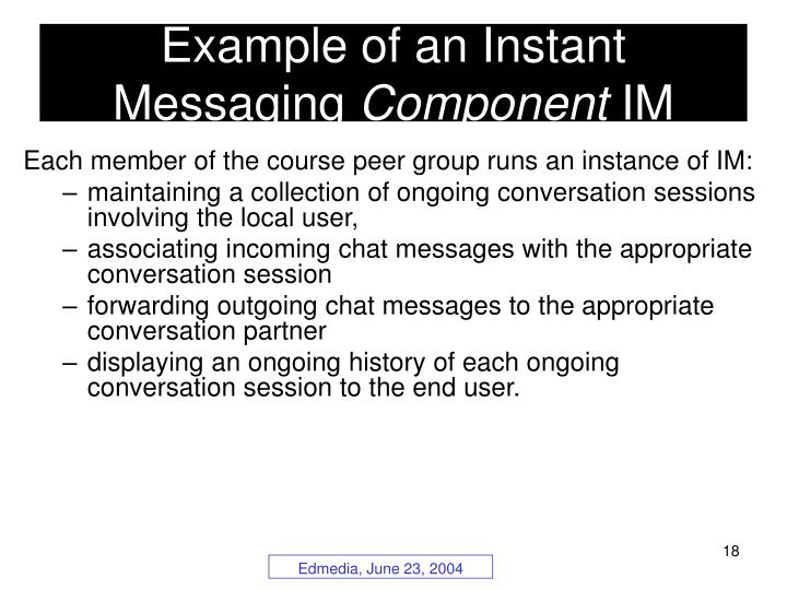 Example of an Instant Messaging