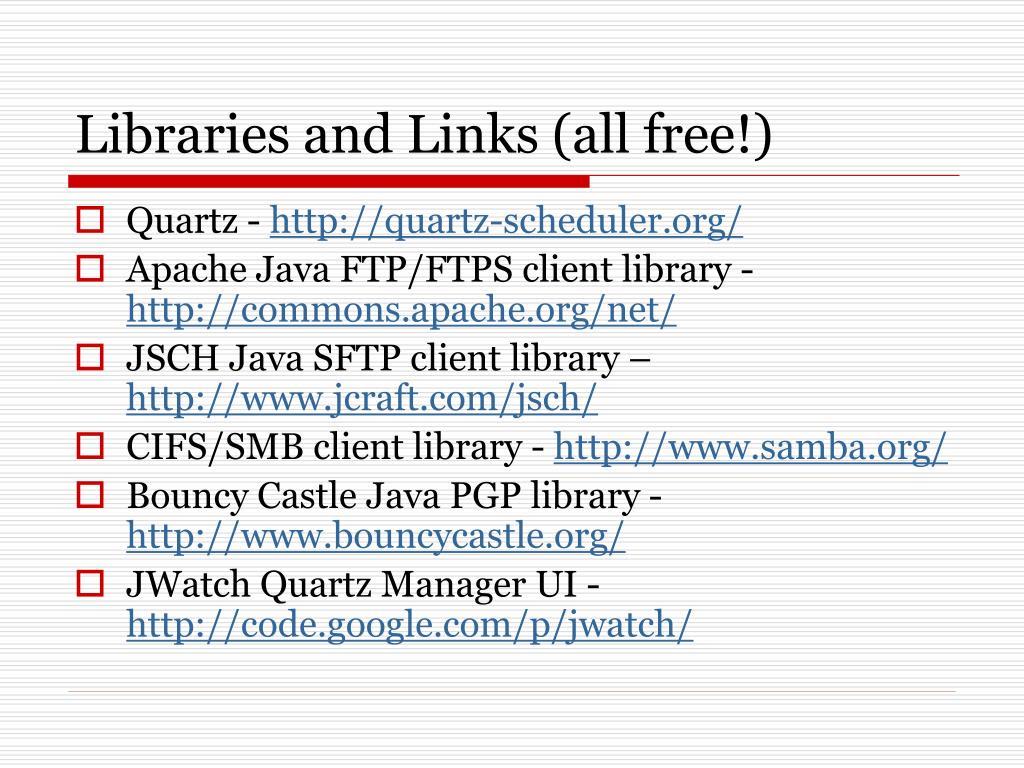 PPT - A Java File Transfer Framework (and More) Using Quartz