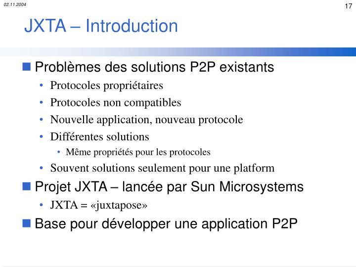 JXTA – Introduction