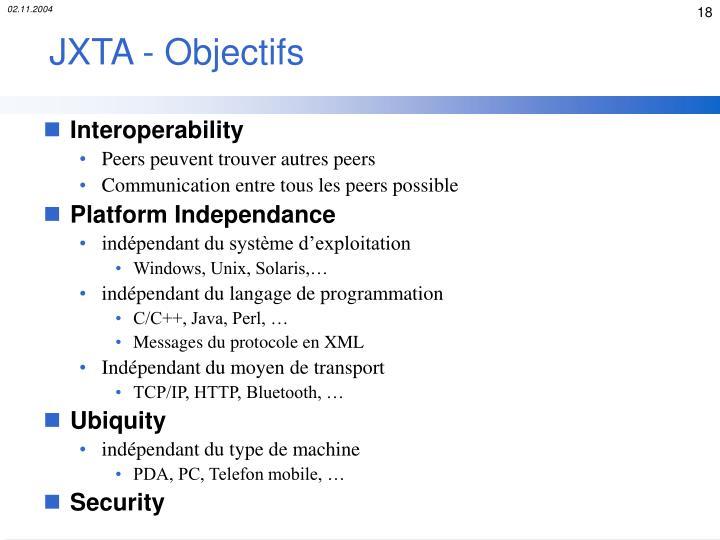 JXTA - Objectifs