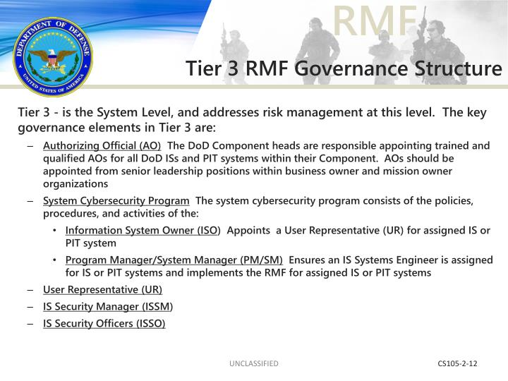 Tier 3 RMF Governance Structure