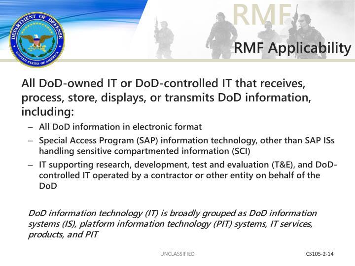 RMF Applicability