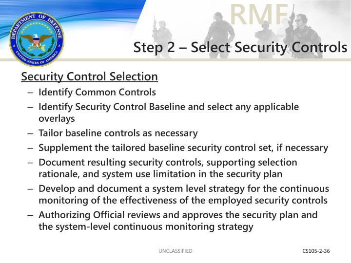 Step 2 – Select Security Controls