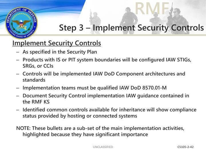 Step 3 – Implement Security