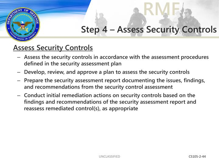 Step 4 – Assess Security