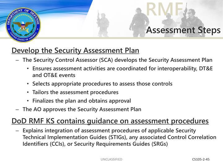 Assessment Steps