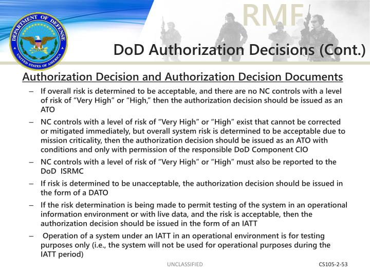 DoD Authorization