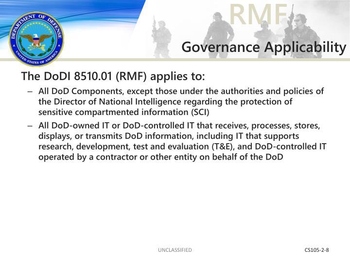 Governance Applicability