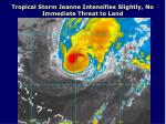 tropical storm jeanne intensifies slightly no immediate threat to land