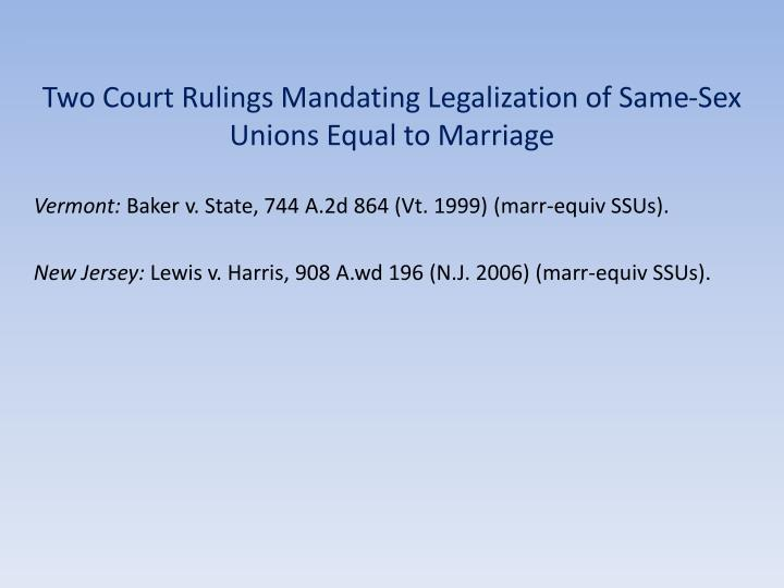 recognition and legalization of same sex marriage The legalization of same-sex marriage benefits  the legalization of gay marriage helps to  7 ways the usa benefits from the legalization of.