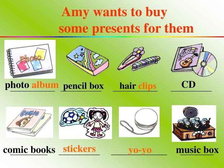 Amy wants to buy