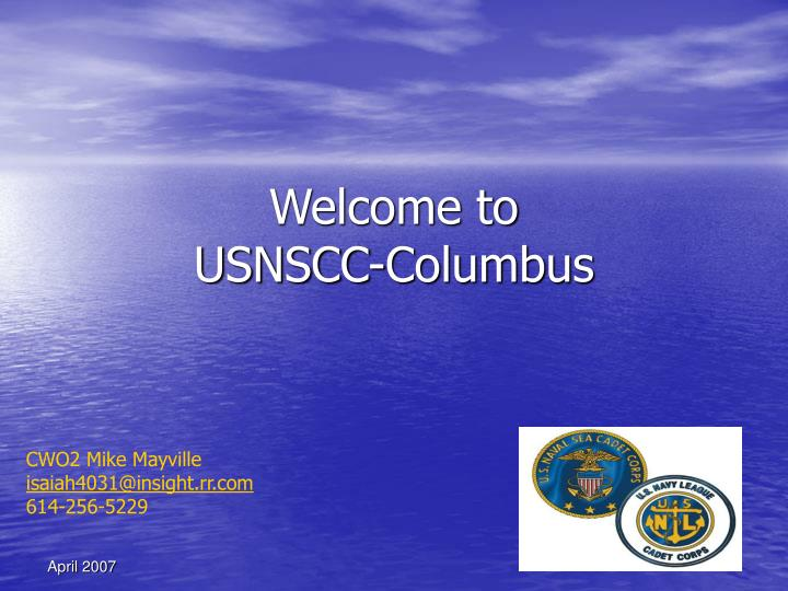 welcome to usnscc columbus n.