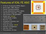 features of ical fe asic