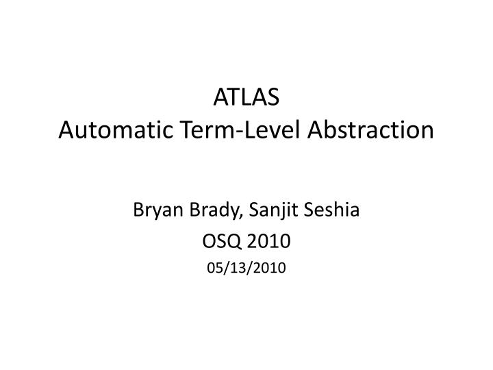 atlas automatic term level abstraction n.