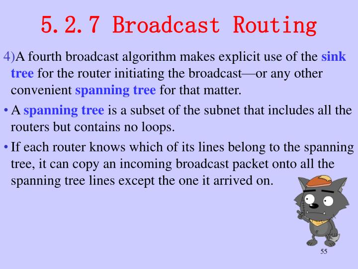 5.2.7 Broadcast Routing