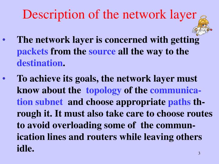 Description of the network layer