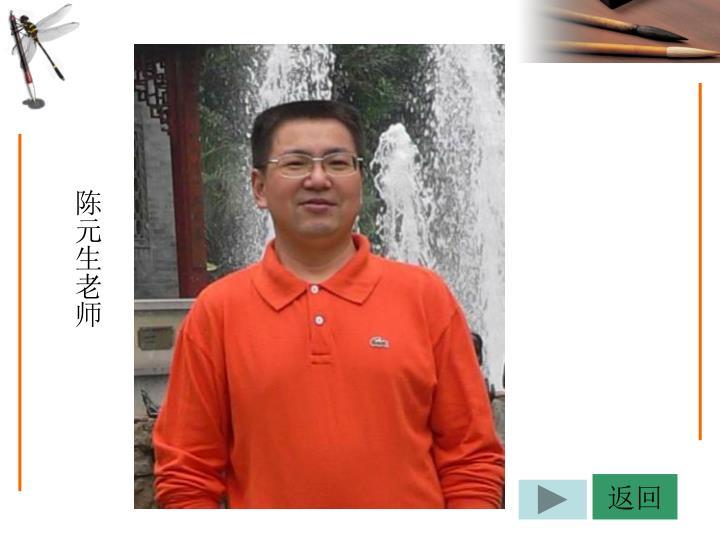 陈元生老师