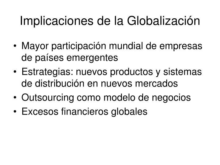 Implicaciones de la Globalización