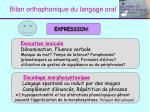 bilan orthophonique du langage oral1