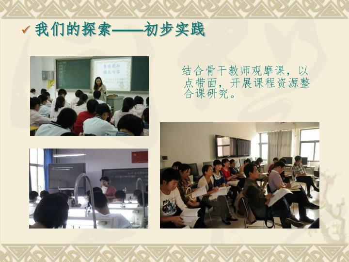 结合骨干教师观摩课,以点带面,开展课程资源整合课研究。